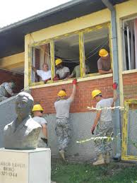 contractors busy with a home remodeling project