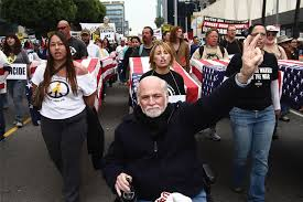 Ron Kovic at a parade honoring fallen military men and women
